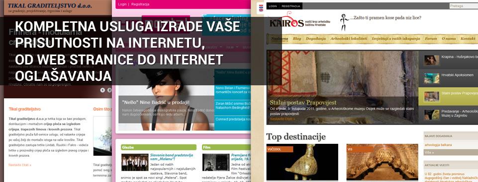 Kompletna usluga izrade vaše prisutnosti na internetu, od web stranice do internet oglašavanja